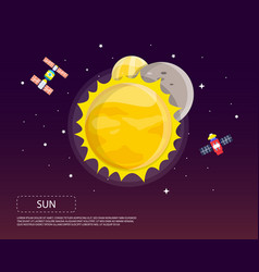 Sun mercury and venus of solar system design vector