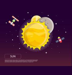 sun mercury and venus of solar system design vector image