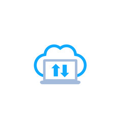 sync with cloud synchronization icon vector image