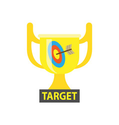 target gold award for best results in business vector image