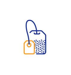 tea bag line icon brew hot drink sign vector image