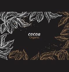 Template cocoa art sketch vector