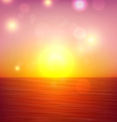 Tropical sunset summer coast vector image