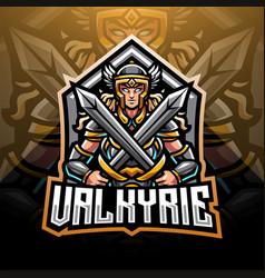 Valkyrie esport mascot logo vector