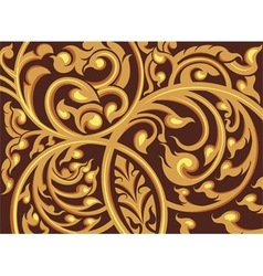 Vine pattern on a brown background vector