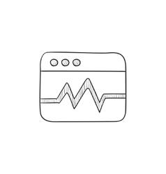 Web analytics information sketch icon vector image