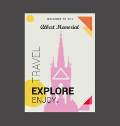 Welcome to the albert memorial belfast england vector