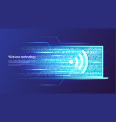 wireless technology and data transfer concept vector image