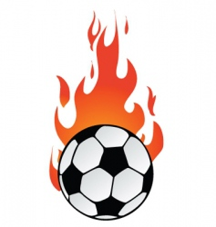 flaming soccer vector image vector image