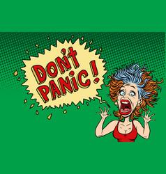 panic funny woman vector image