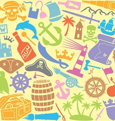pirates icons seamless pattern vector image vector image
