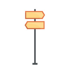 road directional signs vector image