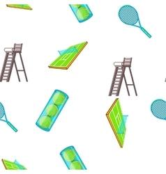 Tennis pattern cartoon style vector image