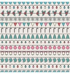 2016 Christmas season hand drawn seamless vector image