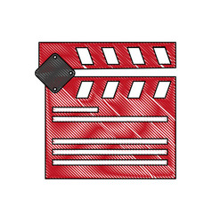 clapperboard cinema icon image vector image