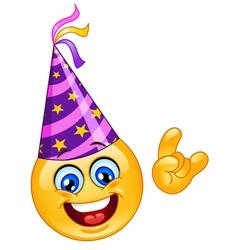 party emoticon vector image