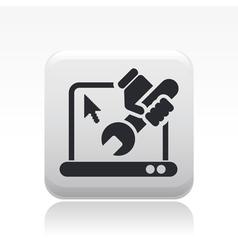 pc repair icon vector image vector image