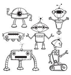Robots collection vector image