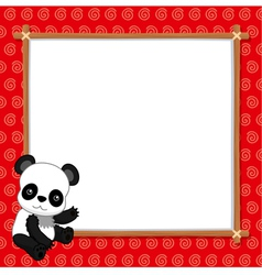 A Panda with white blank vector image vector image