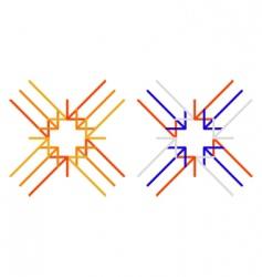 arrows to cross vector image vector image