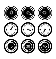 Dial and Timers Icons Set vector image vector image