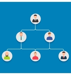 modern career stage with people vector image