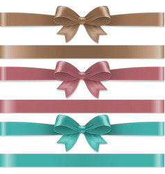 pastel color bows set vector image