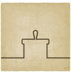 podium with microphone old background vector image vector image