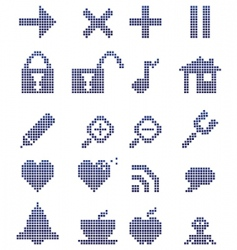 toolbar icons vector image
