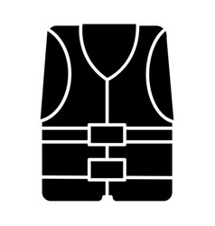 vest icon black sign on vector image vector image