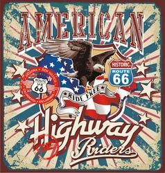 american rider vector image