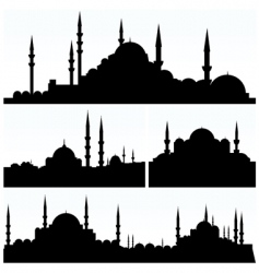 Arabesque cityscapes vector
