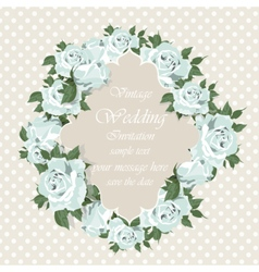Blue Roses Vintage Invitation card vector image vector image