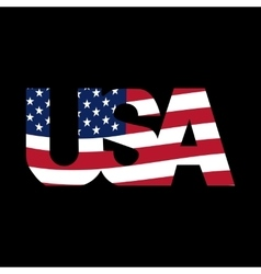 Caption United States on a black background USA vector image