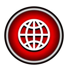 globe icon background vector image
