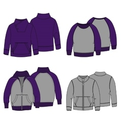 Hoodies 3 Color vector image