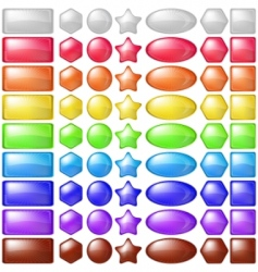 icons buttons set vector image