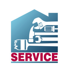service for house sign vector image