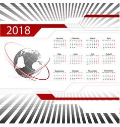 2018 calendar vector image