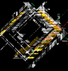 abstract colors geometric shapes on a black scene vector image
