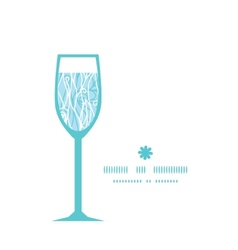 Abstract frost swirls texture wine glass vector