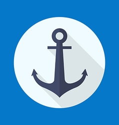 Anchor flat icon vector image