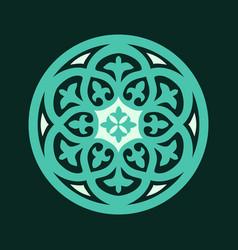 Arabic floral border beautiful decorative vector