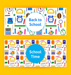back to school web banners vector image