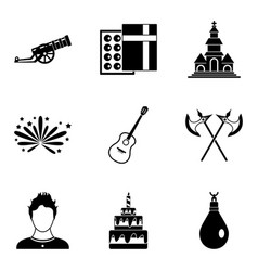 Beloved icons set simple style vector
