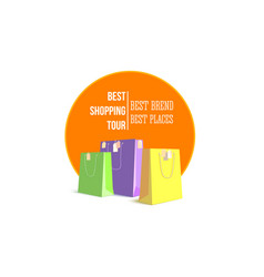 best shopping tour template design advertising vector image