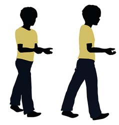 Boy silhouette in Carrying Pose vector
