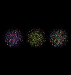 bright colorful circle blot dots background vector image