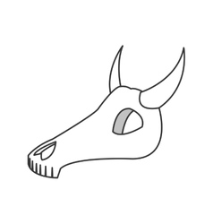 Bull or cow skull icon vector