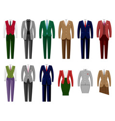 business suit mail or female corporate vector image